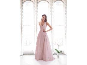 Plesové Společenské Šaty FERODA růžové