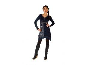 Bavlněné Šaty SIRA tmavě modré