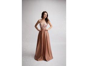 Společenské plesové šaty CARINE růžové
