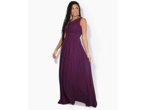 Šaty pro družičky ELSIE Aubergina fialové