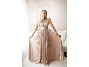 Společenské šaty SELENE starorůžové