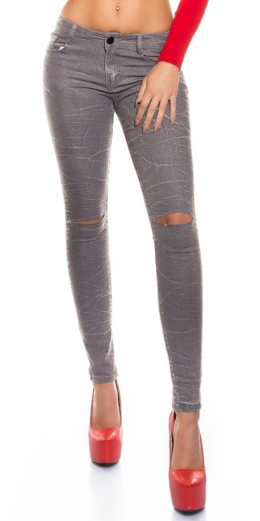 Dámské úzké džíny šedé DD8882ES Barva: Šedá, Velikost: 36