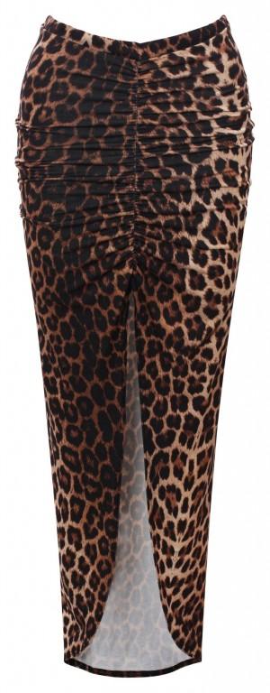 Dámská sukně EVITA DS17LEO leopard Barva: Hnědá, Velikost: S