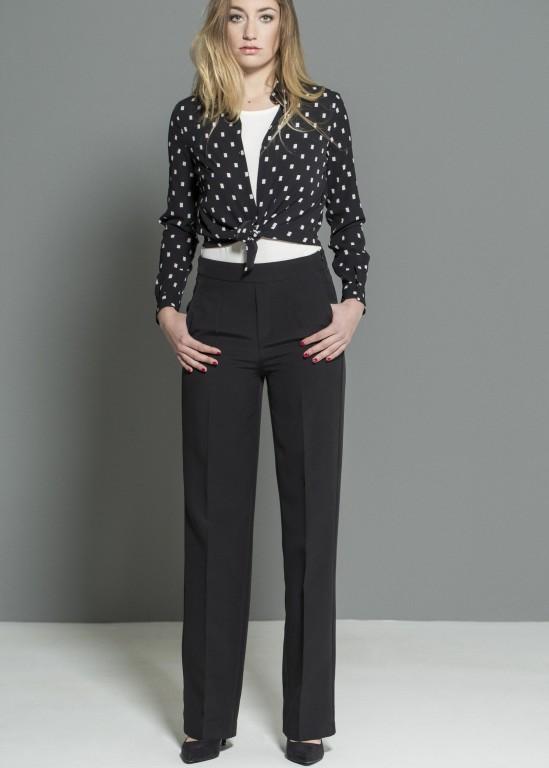 Dámské elegantní kalhoty DK75116C Barva: Černá, Velikost: XL
