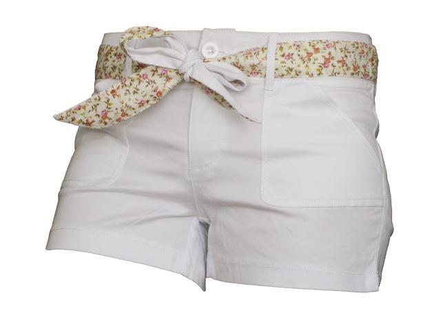 Dámské šortky MOA - bílé-P8976W Velikost: M