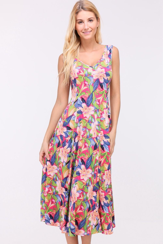 Letní květované šaty OBELLA MULTICOLOR Barva: Barevná, Velikost: XL
