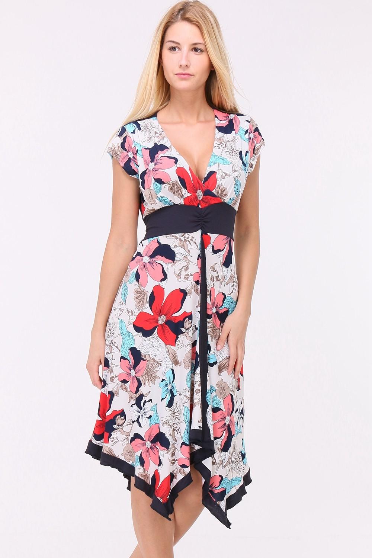 Letní Květované šaty SUZAN PINK Barva: Barevná, Velikost: M