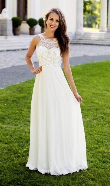 Společenské Šaty THEA WHITE Barva: Bílá, Velikost: S