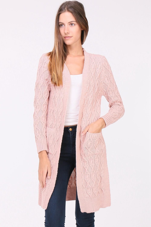 Dámský Cardigan GINA PINK Barva: Růžová, Velikost: S/M