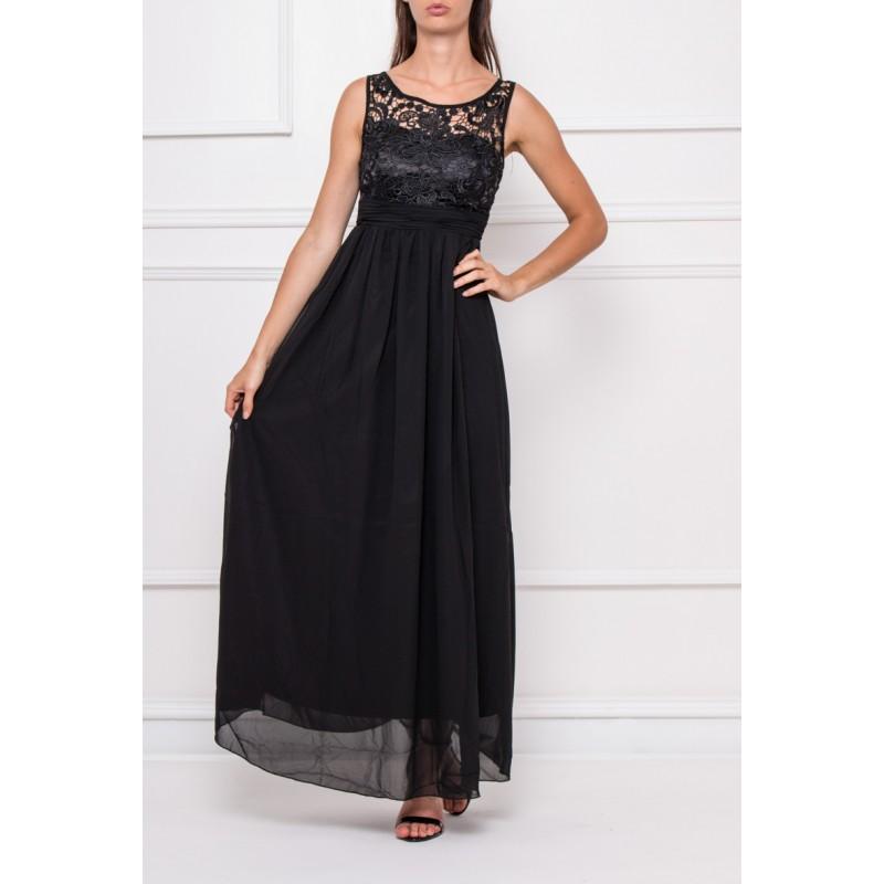 Společenské Šaty DEBORA BLACK Barva: Černá, Velikost: S
