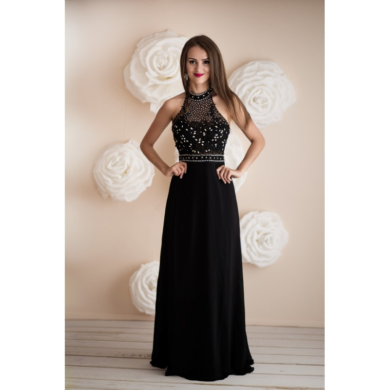 Společenské Šaty EMELINE BLACK Barva: Černá, Velikost: S