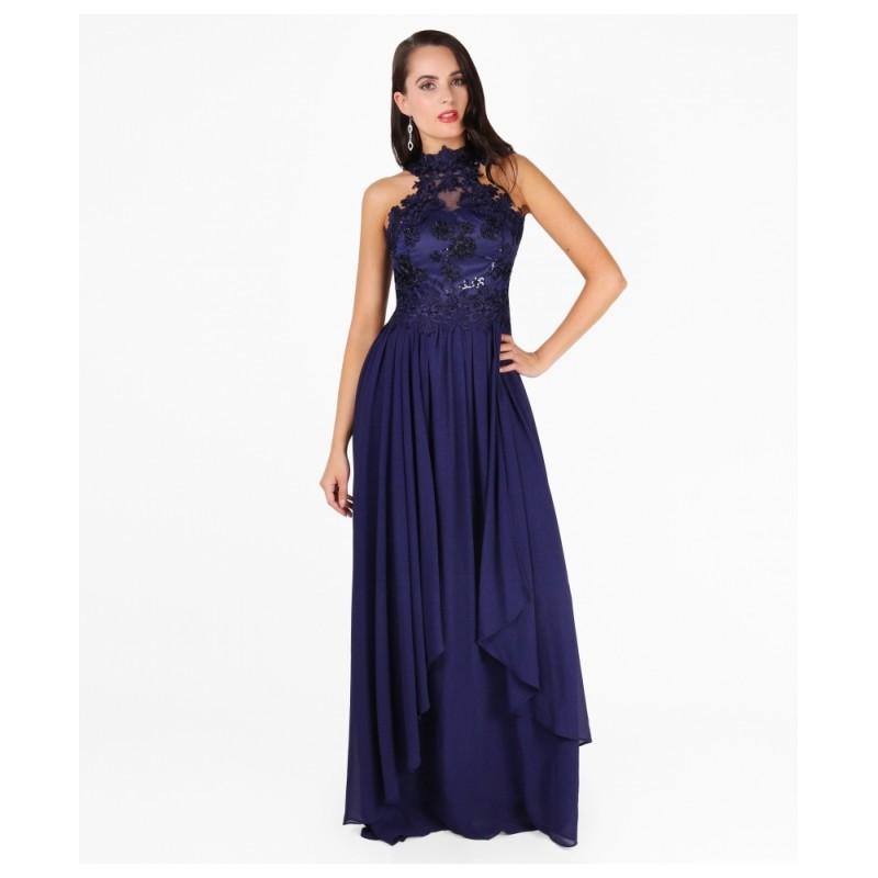 Společenské šaty OLYA NAVY Barva: Tmavě modrá, Velikost: S