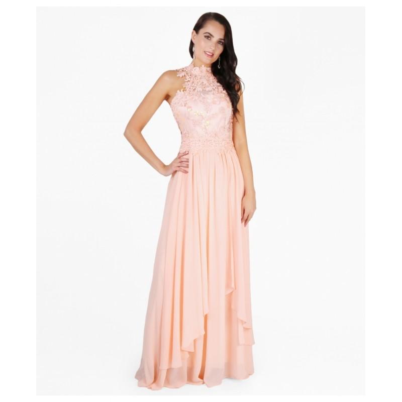 Společenské šaty OLYA PINK Barva: Růžová, Velikost: S