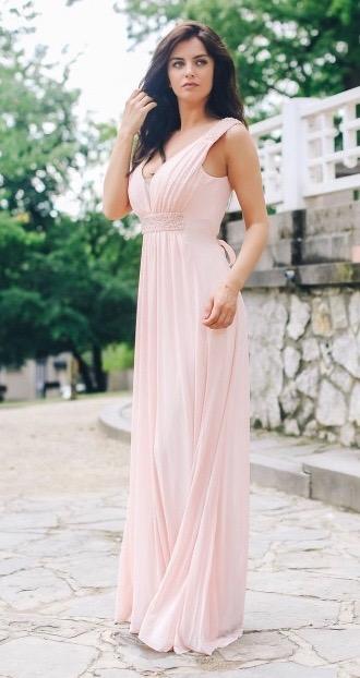 Společenské Šaty MELÁNIE PINK Barva: Růžová, Velikost: S