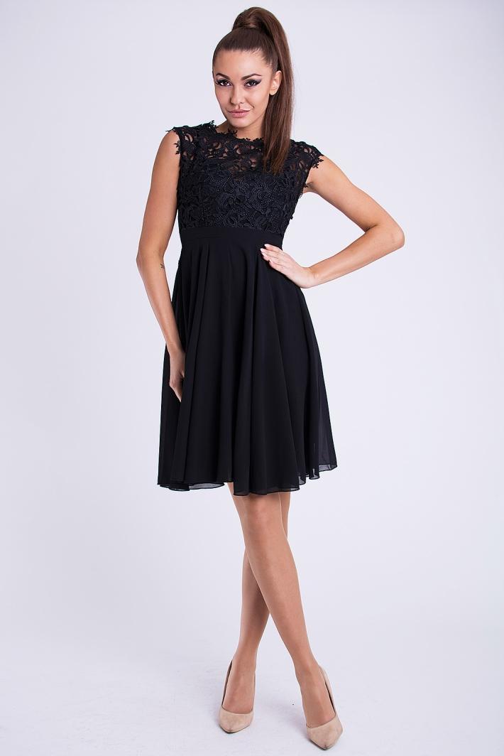 Dámské Šaty MAELYS BLACK Barva: Černá, Velikost: S