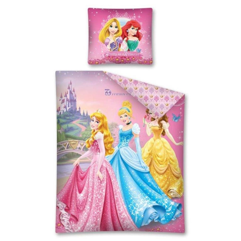 Dětské povlečení DISNEY PRINCESS R 160x200 Barva: Barevná, Růžová