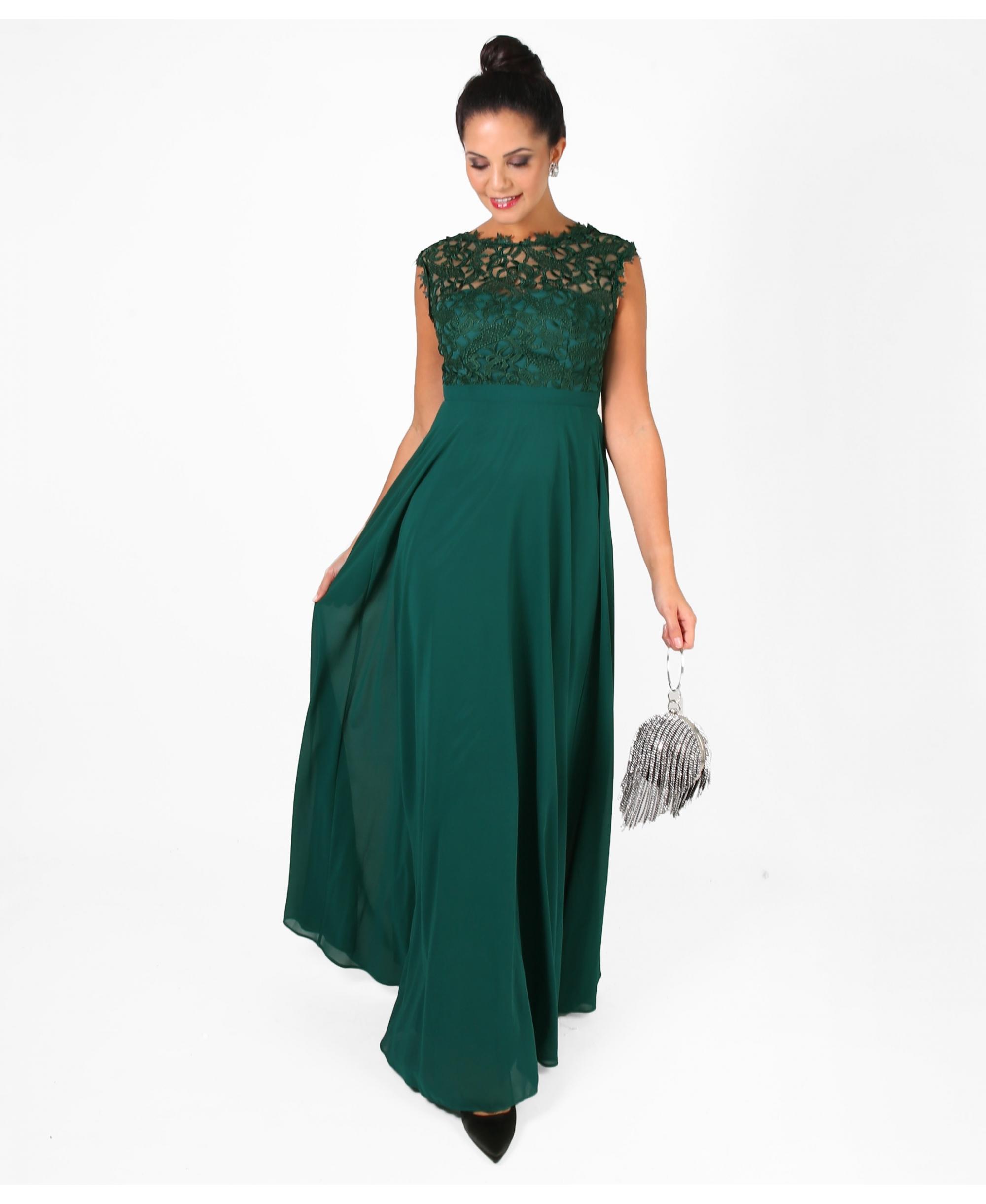 Dámské Šaty SAVINA GREEN Barva: Zelená, Velikost: S