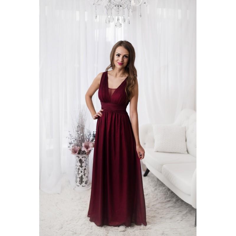 Společenské Šaty GABRIELA BORDO Barva: Vínová, Velikost: S