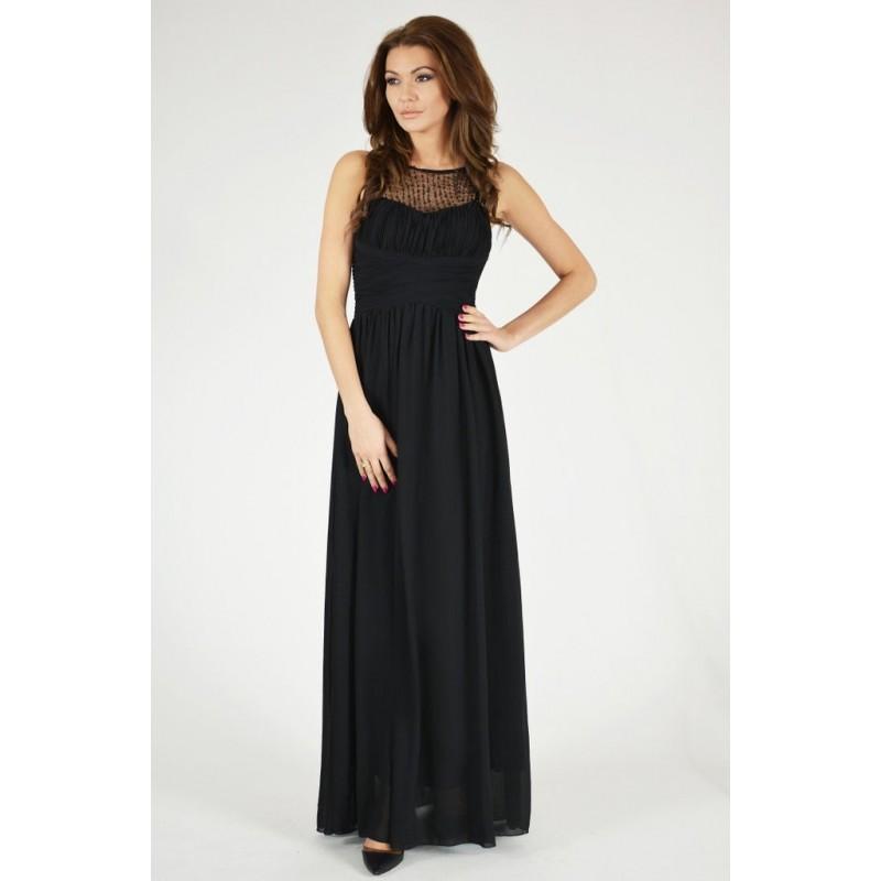 Společenské Šaty DANA BLACK Barva: Černá, Velikost: S