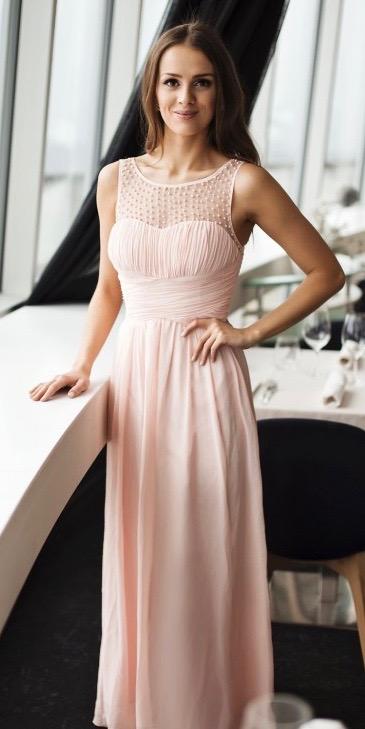 Společenské Šaty DANA PINK Barva: Růžová, Velikost: S