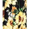 Letní maxi šaty Slunečnice černé