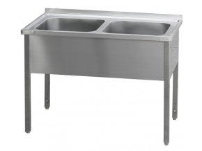 Stůl mycí dvoudřez MSD 1400x700x900
