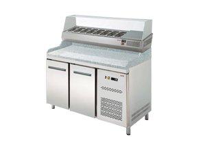 Chladicí pizza stůl s vitrínou RTP-2D