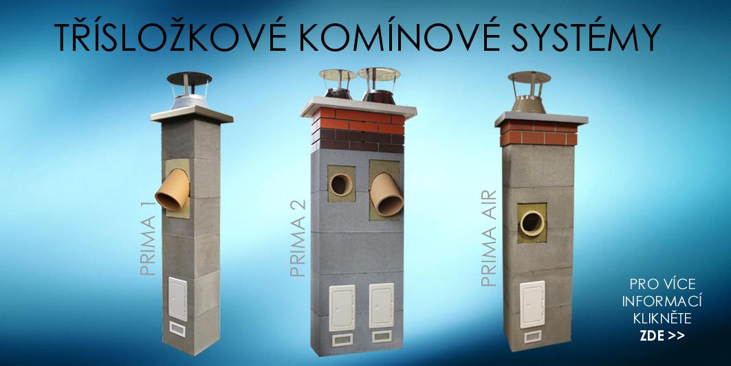 Třísložkové komínové systémy