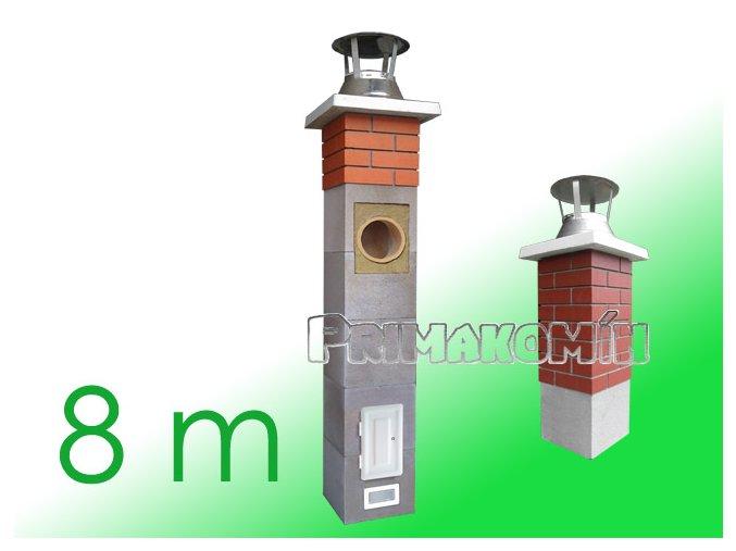 AKCE: Komínový systém 8 m, 160 mm včetně 1 m tvarovek Final