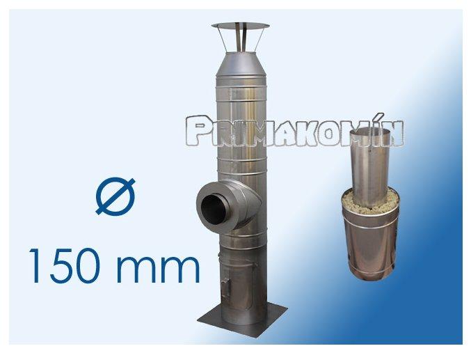 Nerezový komínový systém 4,5 m - 150 mm
