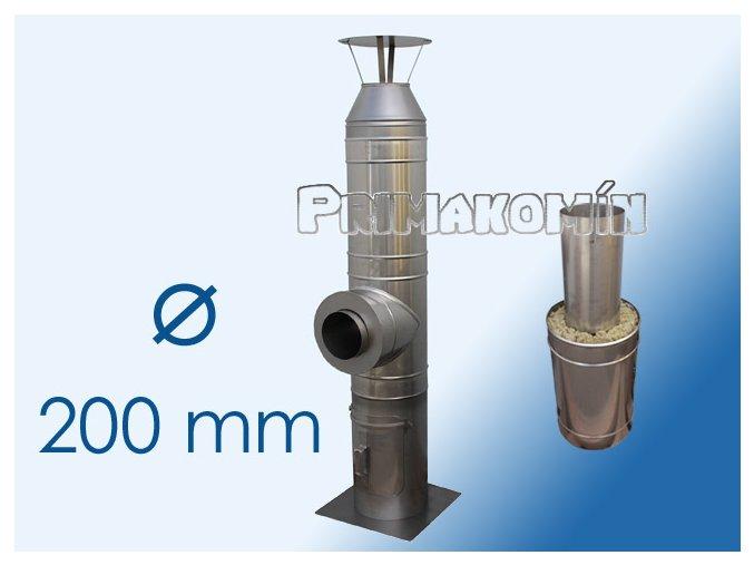 Nerezový komínový systém 4,5 m - 200 mm