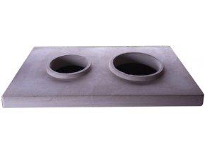 Betonová krycí deska 2 pro dvojkomín 160/160
