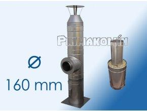 Nerezový komínový systém ak/al 6 m - 160 mm