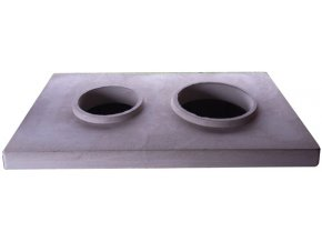 Betonová krycí deska 2 pro dvojkomín 200/200
