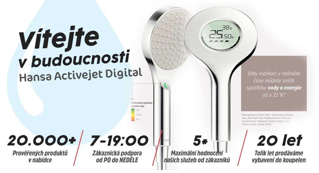 Hansa ACTIVEJET Digital ruční sprcha Self-powered/Bluetooth
