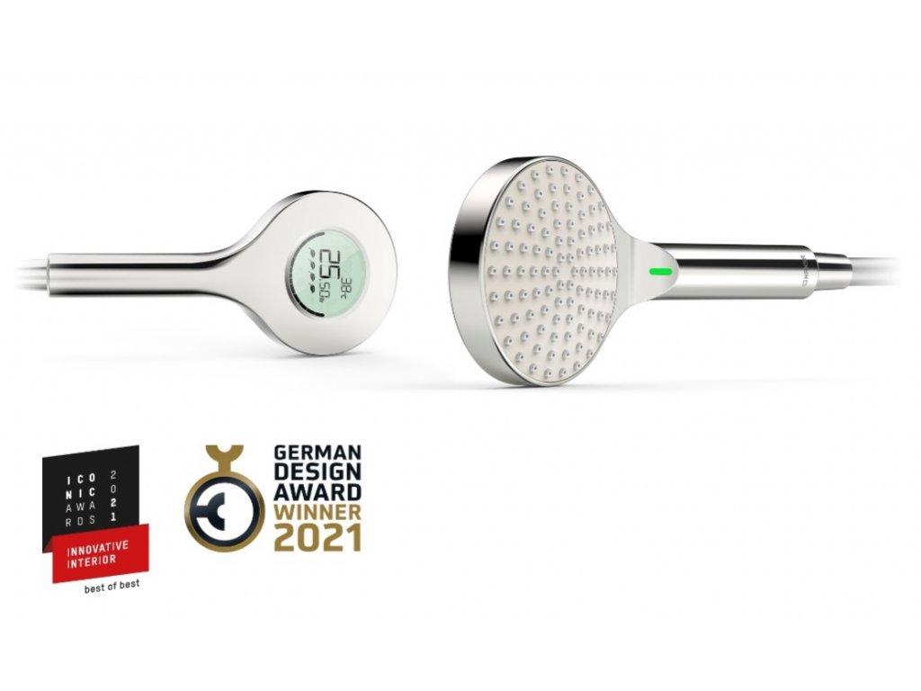Hansa ACTIVEJET Digital ruční sprcha Self powered Bluetooth Chrome Světle šedá 84310180