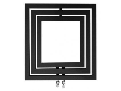 Otopné těleso / radiátor / topný žebřík: SAPHO MONOPOLI otopné těleso 600 x 600mm, 312 W, antracit (L-606A) PO606A od značky Sapho. Série: Poli. Šířka: 600 mm. Výška: 600 mm. Výkon: 312 W. Barva: Antracit. Materiál: Ocel. Možnost vytápění: Kombinované vytápění. Doporučená topná tyč o výkonu: 300 W. Doporučené umístění: Koupelna. Rozměry (šxv): 600 x 600 mm. Rozteč připojení 50 mm: Symetrické (na střed). Rozteč připojení přesně: 50 mm. Styl: Designový a moderní. Tvar: Designový, Rámový. Připojení: Středové připojení.