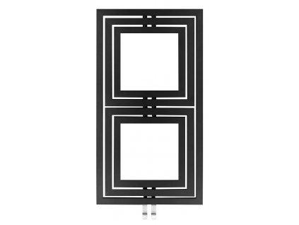 Otopné těleso / radiátor / topný žebřík: SAPHO DUPOLI otopné těleso 600 x 1110mm, 556 W, antracit (L-611A) PO611A od značky Sapho. Série: Poli. Šířka: 600 mm. Výška: 1110 mm. Výkon: 556 W. Barva: Antracit. Materiál: Ocel. Možnost vytápění: Kombinované vytápění. Doporučená topná tyč o výkonu: 500 W. Doporučené umístění: Koupelna. Rozměry (šxv): 600 x 1110 mm. Rozteč připojení 50 mm: Symetrické (na střed). Rozteč připojení přesně: 50 mm. Styl: Designový a moderní. Tvar: Designový, Rámový. Připojení: Středové připojení.