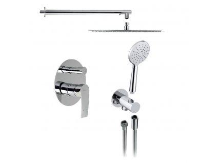 SAPHO TREVIA podomítkový sprchový set s pákovou baterií, 2 výstupy, chrom TN042-01 - Sprchový program > Podomítkové sprchové sety