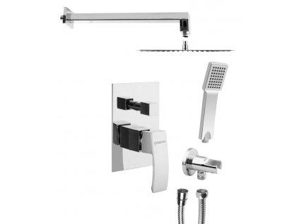 SAPHO GINKO podomítkový sprchový set s pákovou baterií, 2 výstupy, chrom 1101-42-01 - Sprchový program > Podomítkové sprchové sety