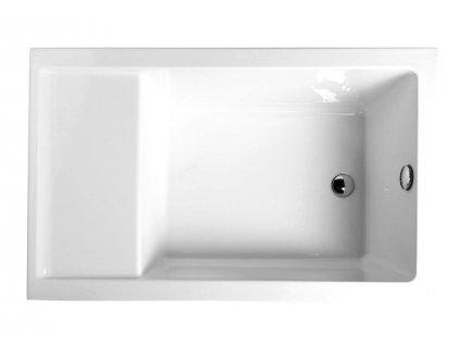POLYSAN JAZZ sedací vana 120x75x39cm, bílá, 72913 - Vany > Obdelníkové vany