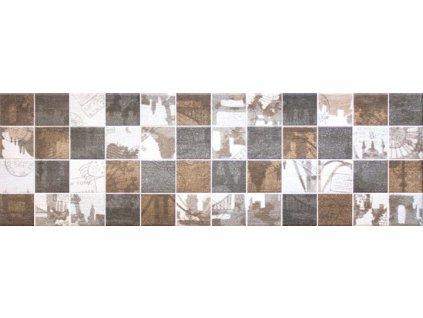 KENZO Mosaico 25x80 (bal.= 1,2 m2) od výrobce Unicer. Série: KENZO. Styl: moderní styl. Rozměry: 25x80. Balení: 1,2000 m2. Materiál: keramika. Barva: teplá. Použití: obklad. Povrch: satén. Umístění: koupelna, kuchyň. Produkt z kategorie: Obklady a dlažby > Dekorativní obklady. <p>Z důvodu zvýšených nákladů na logistiku obkladů a dlažeb je <strong>minimální hodnota celkové objednávky 15.000 Kč</strong> (hodnota objednávky je součet všech objednaných produktů).</p>