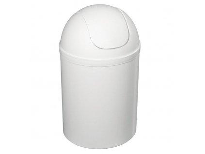 AQUALINE Odpadkový koš výklopný, 5l, plast, bílá