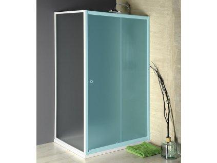 AQUALINE AMADEO boční stěna 900 mm, sklo BRICK