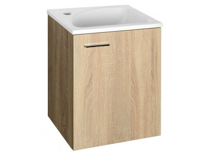 AQUALINE ZOJA/KERAMIA FRESH umyvadlová skříňka 40x50x32cm, dub platin 51048DP