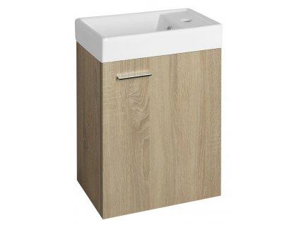 AQUALINE ZOJA umyvadlová skříňka 39,5x50x22cm, dub platin 51049DP