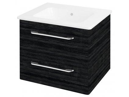 Sapho PURA umyvadlová skříňka 57x50,7x48,5cm, graphite line PR063