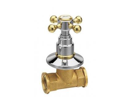 REITANO ANTEA podomítkový ventil, teplá, chrom/zlato 3052H