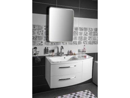 SAPHO Koupelnový set JULIE 105, levá, bílá KSET-001