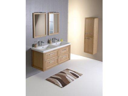SAPHO Koupelnový set LARITA 125, dvojumyvadlo, dub natural KSET-002